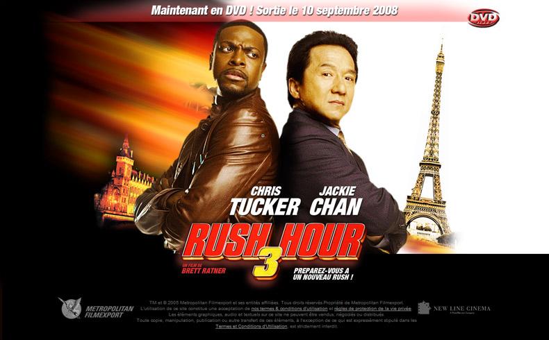 Rush hour 3 en DVD !