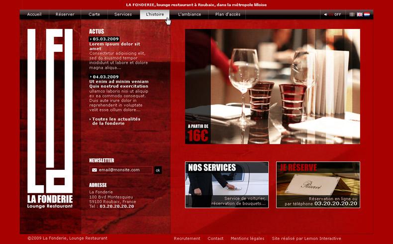 LA FONDERIE, lounge restaurant à Roubaix