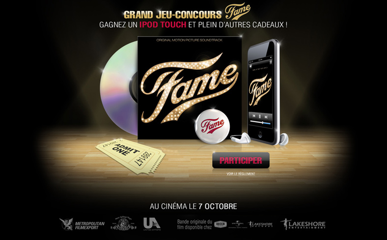 Fame - Le jeu concours