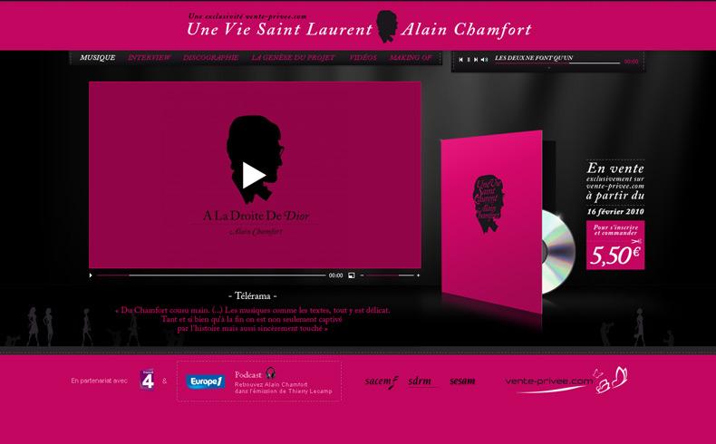 Une Vie Saint Laurent, Alain Chamfort