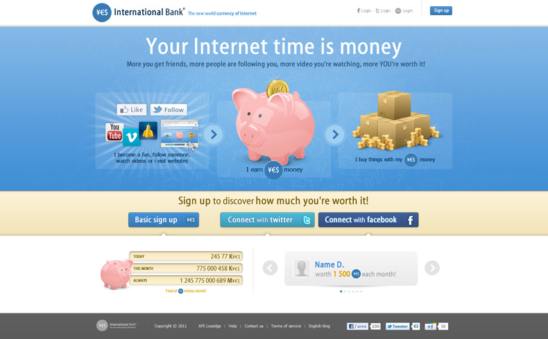 YES International Bank : The new world currency of Internet